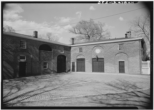 2.  Historic American Buildings Survey, Laurence E. Tilley, Photographer May, 1958 SOUTH AND WEST ELEVATIONS FACING THE HOUSE. - Thomas P. Ives Stable & Coach House, 66 Power Street, Providence, Providence County, RI