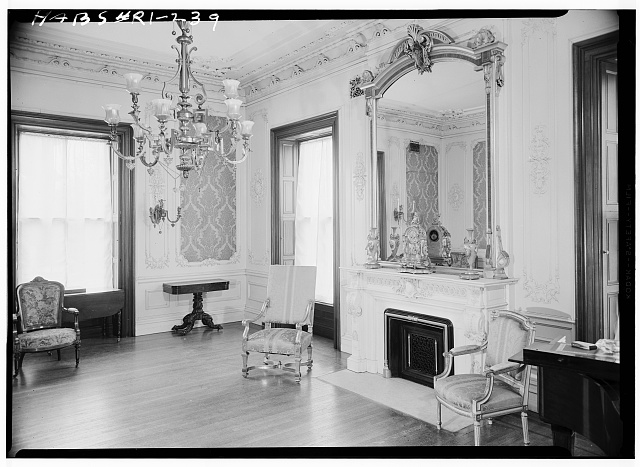 25.  Historic American Buildings Survey, Laurence E. Tilley, Photographer April, 1958 NORTHWEST DRAWING ROOM. - Governor Henry Lippitt House, 199 Hope Street, Providence, Providence County, RI