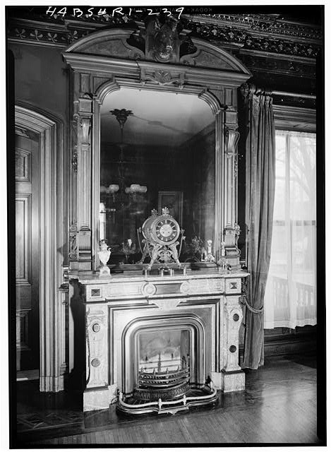 26.  Historic American Buildings Survey, Laurence E. Tilley, Photographer April, 1958 FIREPLACE IN DINING ROOM. - Governor Henry Lippitt House, 199 Hope Street, Providence, Providence County, RI