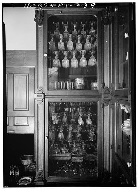 29.  Historic American Buildings Survey, Laurence E. Tilley, Photographer April, 1958 CUPBOARD DETAIL IN PANTRY. - Governor Henry Lippitt House, 199 Hope Street, Providence, Providence County, RI