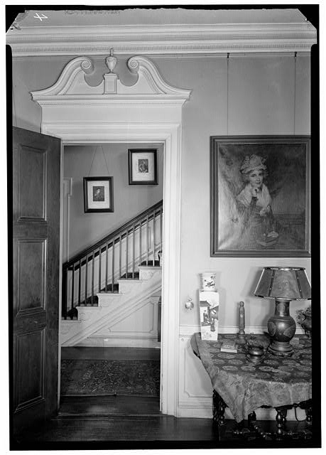1.  Historic American Buildings Survey, Arthur W. LeBoeuf, Photographer, 1937 DOORWAY TO RONT HALL AND STAIRS. - Lippitt-Green House, 14 John Street, Providence, Providence County, RI
