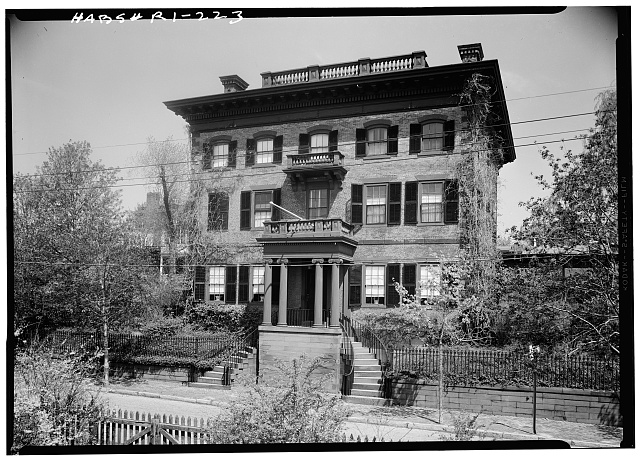 3.  Historic American Buildings Survey, Laurence E. Tilley, Photographer May, 1958 SOUTH (FRONT) ELEVATION. - Lippitt-Green House, 14 John Street, Providence, Providence County, RI