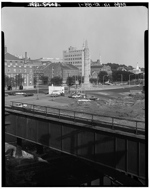 1.  DISTANT VIEW FROM SOUTHWEST, STATE HOUSE AT LEFT IN BACKGROUND - Rhode Island State House, 90 Smith Street, Providence, Providence County, RI