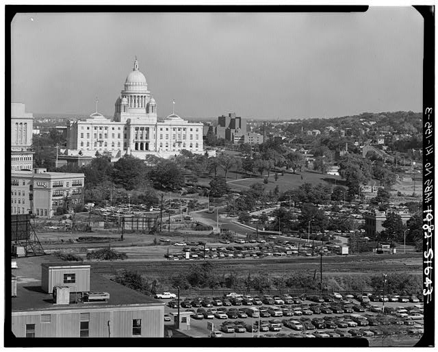 3.  DISTANT VIEW FROM SOUTHWEST - Rhode Island State House, 90 Smith Street, Providence, Providence County, RI