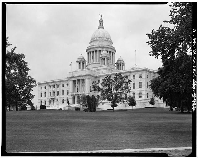5.  SOUTH ELEVATION FROM SOUTHEAST - Rhode Island State House, 90 Smith Street, Providence, Providence County, RI