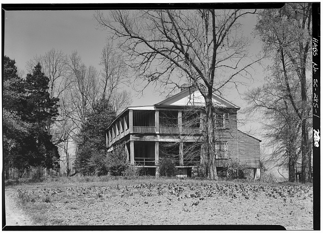 1.  SOUTH AND EAST FACADES - Woodburn, Woodburn Road, U.S. Route 76 vicinity, Pendleton, Anderson County, SC
