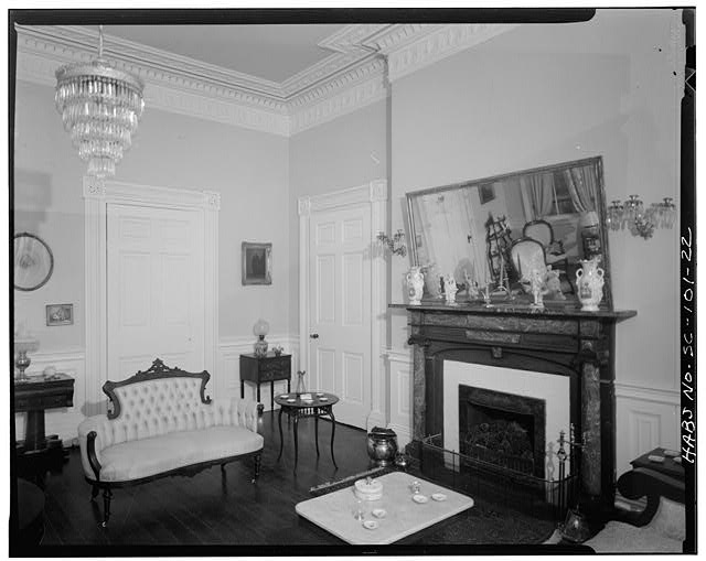22.  FIRST FLOOR SOUTHEAST ROOM, LOOKING NORTHWEST - Governor Thomas Bennett House, 1 Lucas Street, Charleston, Charleston County, SC