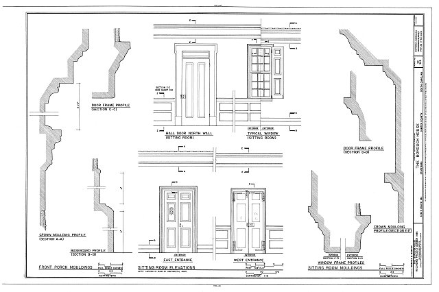 HABS SC,43-STATBU,1- (sheet 28 of 30) - Borough House, West Side State Route 261, about .1 mile south side of junction with old Garners Ferry Road, Stateburg, Sumter County, SC
