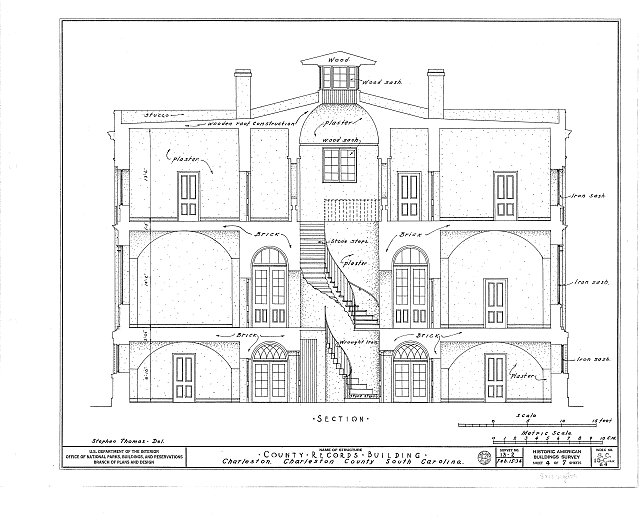 HABS SC,10-CHAR,64- (sheet 4 of 7) - County Records Building, 100 Meeting Street (at Chalmers Street), Charleston, Charleston County, SC