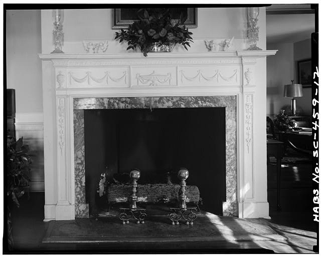 12.  DETAIL OF MANTEL, ROOM B, FRONT SECTION OF FIRST FLOOR - Robert Means House, 1207 Bay Street, Beaufort, Beaufort County, SC
