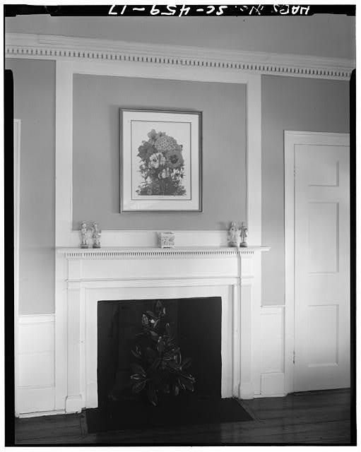 17.  BEDROOM A WITH MANTEL AND OVERMANTEL, SECOND FLOOR - Robert Means House, 1207 Bay Street, Beaufort, Beaufort County, SC