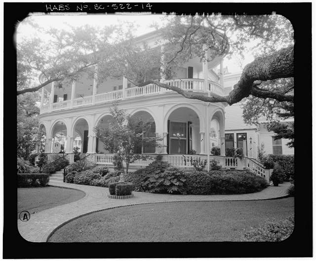 14.  PHOTOGRAMMETRIC IMAGE: PERSPECTIVE VIEW SOUTHEAST CORNER, CLOSE UP - Carrington-Carr House, 2 Meeting Street, Charleston, Charleston County, SC