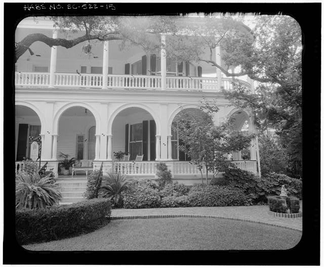 15.  PHOTOGRAMMETRIC IMAGE: SOUTH, FRONT, ELEVATION, PARTIAL VIEW - Carrington-Carr House, 2 Meeting Street, Charleston, Charleston County, SC