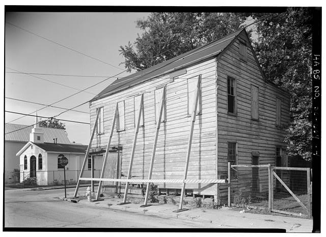 4.  PERSPECTIVE VIEW OF EAST SIDE AND NORTH (REAR) - 14 Amhearst Street, Charleston, Charleston County, SC