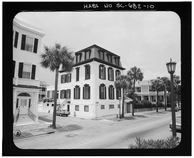 10.  PHOTOGRAMMETRIC IMAGE: PERSPECTIVE VIEW OF SOUTHEAST CORNER - Nathaniel Ingrahm House, 2 Water Street, Charleston, Charleston County, SC