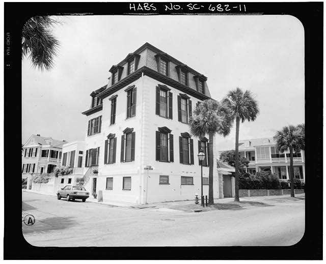 11.  PHOTOGRAMMETRIC IMAGE: PERSPECTIVE VIEW OF SOUTHEAST CORNER - Nathaniel Ingrahm House, 2 Water Street, Charleston, Charleston County, SC