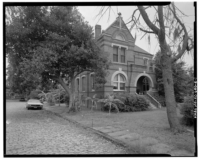 1.  VIEW OF NORTHWEST SIDE AND SOUTHWEST FRONT - William Enston Home, Cottage No. 6, 900 King Street, Charleston, Charleston County, SC