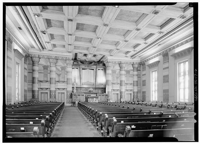 6.  Interior looking south - First Presbyterian Church, 154 Fifth Avenue, Nashville, Davidson County, TN
