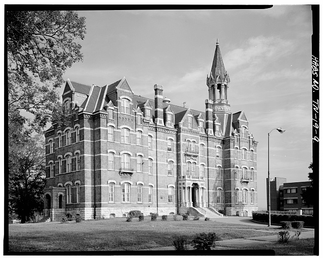 9.  SOUTH (FRONT) AND WEST SIDE ELEVATIONS - Fisk University, Jubilee Hall, Seventeenth Avenue, North, Nashville, Davidson County, TN