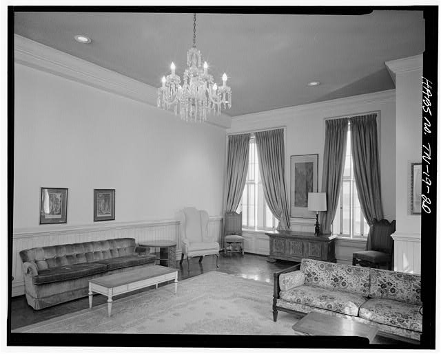 20.  FIRST FLOOR, GOLD ROOM, FACING NORTHEAST. WINDOW WALL SHOWING IS EAST WALL - Fisk University, Jubilee Hall, Seventeenth Avenue, North, Nashville, Davidson County, TN