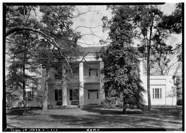 1.  Historic American Buildings Survey, W.T. Washington, Photographer April 2, 1934 FRONT (SOUTH) ELEVATION. - The Hermitage, U.S. Highway 70 North (4580 Rachel's Lane), Nashville, Davidson County, TN
