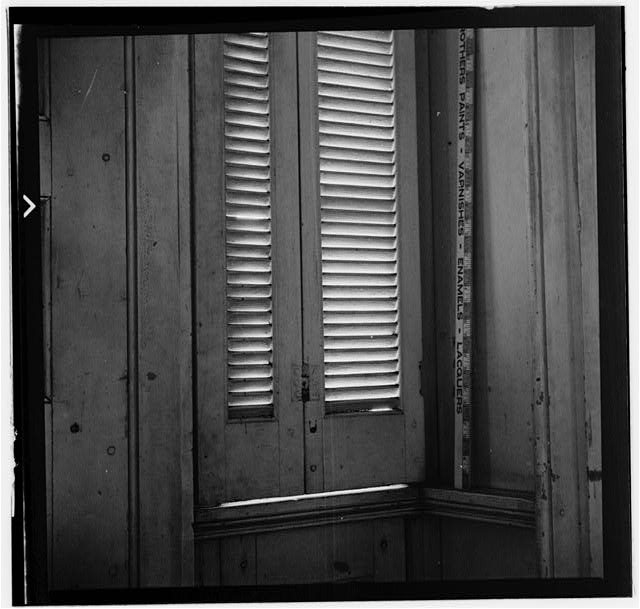 9.  Historic American Buildings Survey, W. Jeter Eason- Deputy District Officer, Photographer November 21, 1936 MILLWORK AND HARDWARE EXTERIOR DOOR- STAIR HALL. - The Hermitage, U.S. Highway 70 North (4580 Rachel's Lane), Nashville, Davidson County, TN