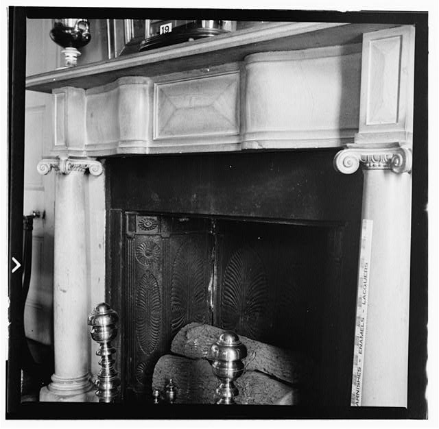 26.  Historic American Buildings Survey, W. Jeter Eason- Deputy District Officer, Photographer November 21, 1936 MANTLE IN REAR PARLOR. - The Hermitage, U.S. Highway 70 North (4580 Rachel's Lane), Nashville, Davidson County, TN