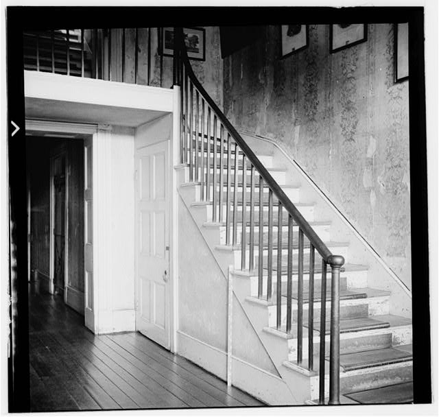 37.  Historic American Buildings Survey, W. Jeter Eason- Deputy District Officer, Photographer November 21, 1936 STAIR IN SERVICE HALL. - The Hermitage, U.S. Highway 70 North (4580 Rachel's Lane), Nashville, Davidson County, TN