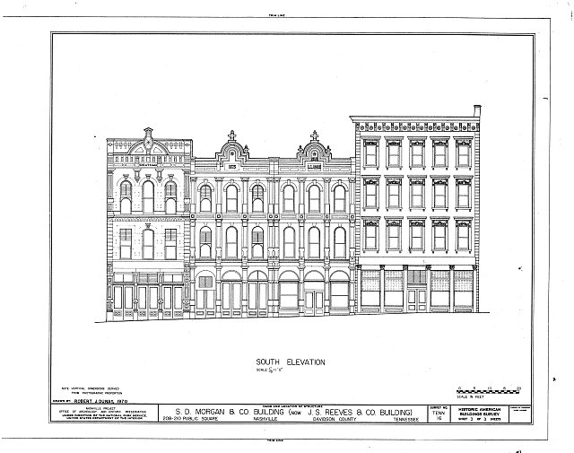 HABS TENN,19-NASH,9- (sheet 3 of 3) - Morgan-Reeves Building, 208-210 Public Square, Nashville, Davidson County, TN