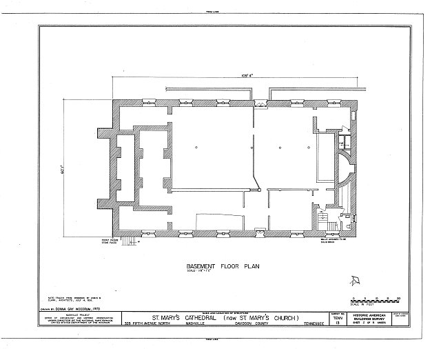 HABS TENN,19-NASH,8- (sheet 2 of 6) - St. Mary's Cathedral, 328 Fifth Avenue, North, Nashville, Davidson County, TN