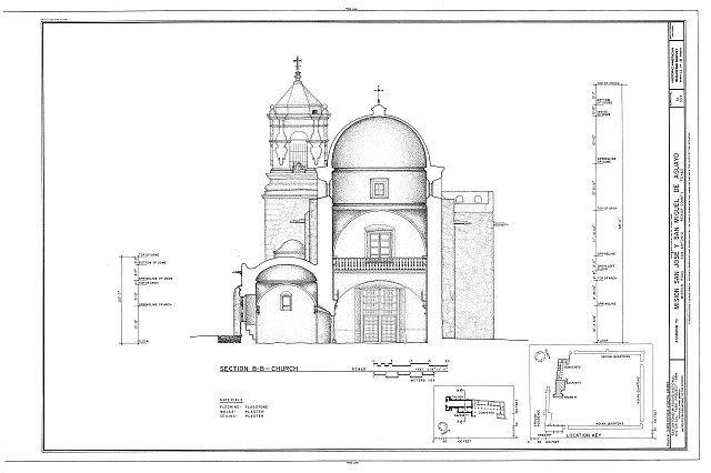 HABS TEX,15-SANT.V,5- (sheet 12 of 18) - Mission San Jose y San Miguel de Aguayo, Mission Road, San Antonio, Bexar County, TX