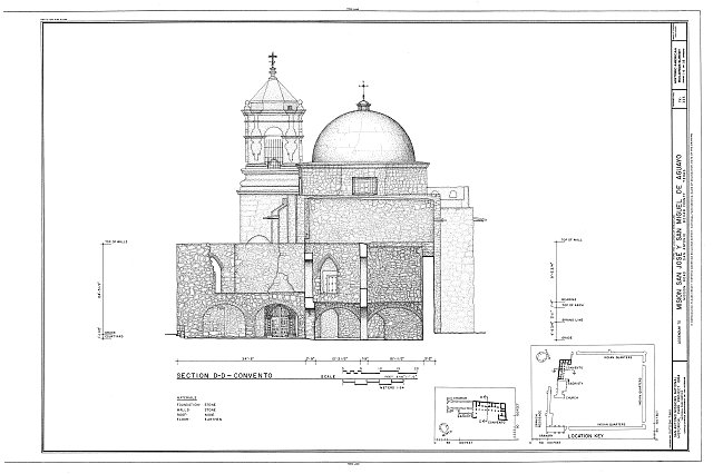 HABS TEX,15-SANT.V,5- (sheet 14 of 18) - Mission San Jose y San Miguel de Aguayo, Mission Road, San Antonio, Bexar County, TX