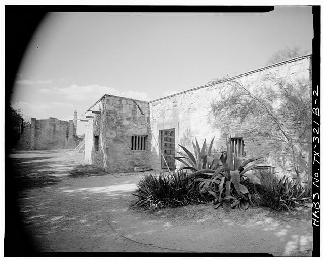 2.  WEST (REAR) ELEVATION, LOOKING NORTHEAST - Mission San Juan de Capistrano, Convent, Berg's Mill-Graf Road, San Antonio, Bexar County, TX