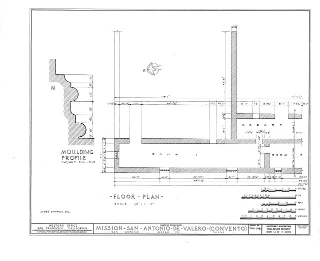 HABS TEX,15-SANT,15- (sheet 14 of 17) - Mission San Antonio de Valero, Alamo Plaza, San Antonio, Bexar County, TX