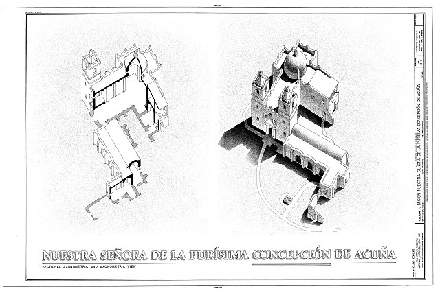 HABS TEX,15-SANT.V,1- (sheet 2 of 12) - Mission Nuestra Senora de La Purisima Concepcion, 807 Mission Road, San Antonio, Bexar County, TX