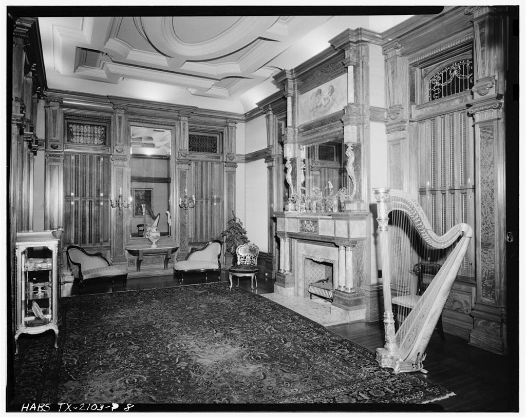 8 interior view of music room colonel walter gresham for Gresham house