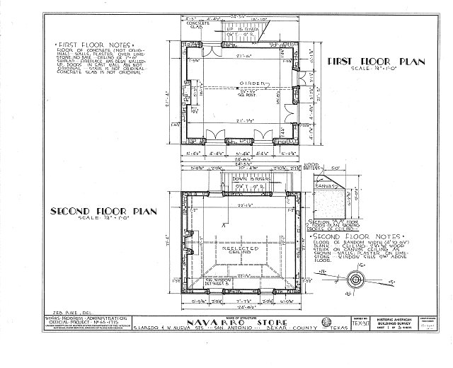 HABS TEX,15-SANT,14- (sheet 1 of 3) - Jose Antonio Navarro Store, 232 South Laredo Street, San Antonio, Bexar County, TX