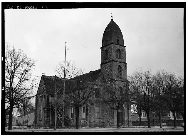 1.  Historic American Buildings Survey, Emil Niggli, Photographer January 17, 1934 GENERAL VIEW FROM SOUTHWEST. - Old St. Mary's Catholic Church, San Antonio Street, Fredericksburg, Gillespie County, TX