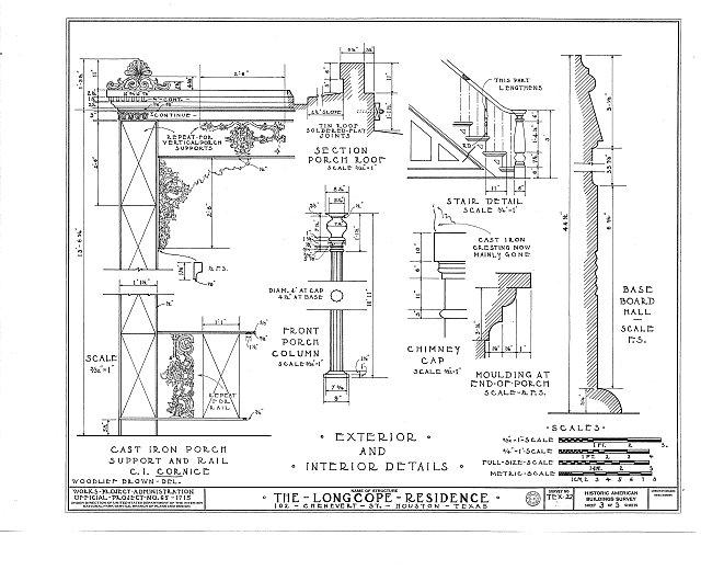 HABS TEX,101-HOUT,3- (sheet 3 of 3) - E. Longcope House, 102 Chenevert Street, Houston, Harris County, TX