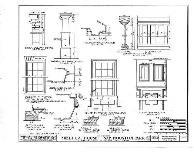HABS TEX,101-HOUT,4- (sheet 3 of 4) - Kellum-Noble House, Sam Houston Park, 212 Dallas Avenue, Houston, Harris County, TX