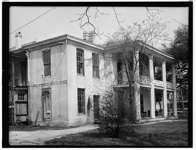 4.  Historic American Buildings Survey, James I. Campbell, Photographer February 20, 1934 VIEW FROM SOUTH. - Dr. Carrington House, Crawford Street & Rusk Avenue, Houston, Harris County, TX