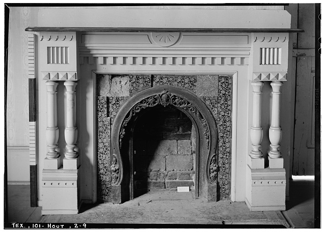 9.  Historic American Buildings Survey, Harry L. Starnes, Photographer April 6, 1936 MANTEL DETAIL. - Dr. Carrington House, Crawford Street & Rusk Avenue, Houston, Harris County, TX