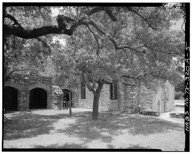 5.  SOUTH SIDE - Mission San Francisco de la Espada, Church, Berg's Mill Community, San Antonio, Bexar County, TX