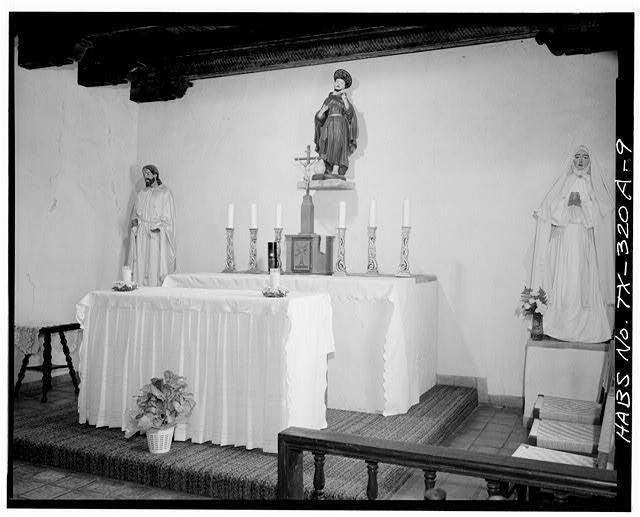 9.  ALTAR - Mission San Francisco de la Espada, Church, Berg's Mill Community, San Antonio, Bexar County, TX