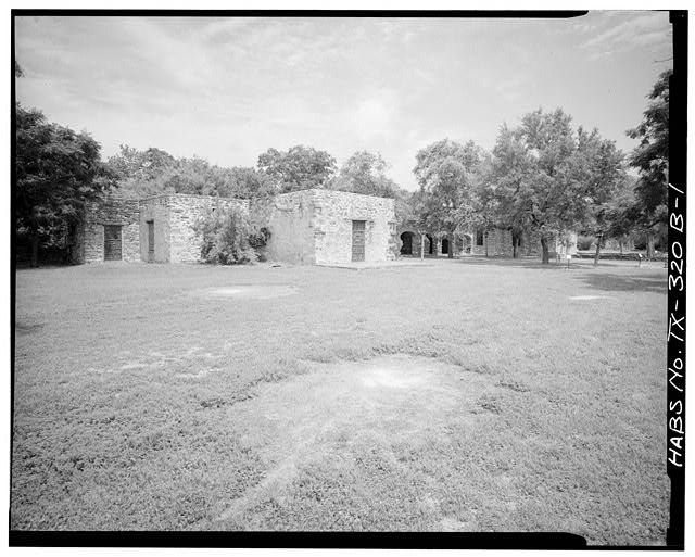 1.  GENERAL VIEW, LOOKING NORTHWEST - Mission San Francisco de la Espada, Rectory, Berg's Mill Community, San Antonio, Bexar County, TX