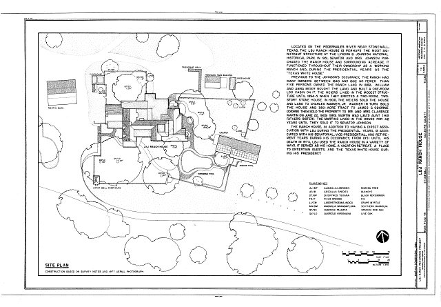 Statement of significance and site plan - Lyndon B. Johnson Ranch, House, Park Road 49, Stonewall, Gillespie County, TX