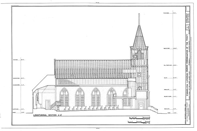 HABS TEX,86-STONE,2- (sheet 4 of 4) - Evangelical Lutheran Church, Congregation of the Trinity, Ranch Road 1 at Lower Albert Road, Stonewall, Gillespie County, TX