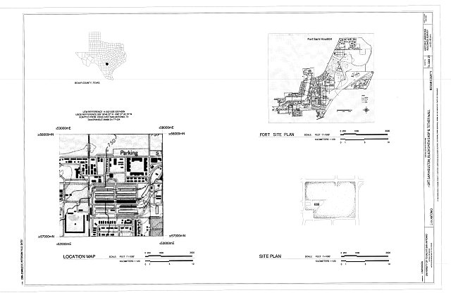 Location Map & Site Plan - Fort Sam Houston, Blacksmith Shop & Tether Wall, San Antonio, Bexar County, TX