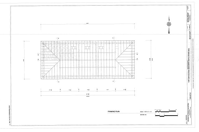 Framing Plan - Fort Sam Houston, Blacksmith Shop & Tether Wall, San Antonio, Bexar County, TX