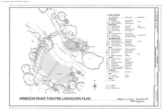 Arneson River Theater Landscape Plan  - San Antonio River Walk, 418 Villita Street, San Antonio, Bexar County, TX